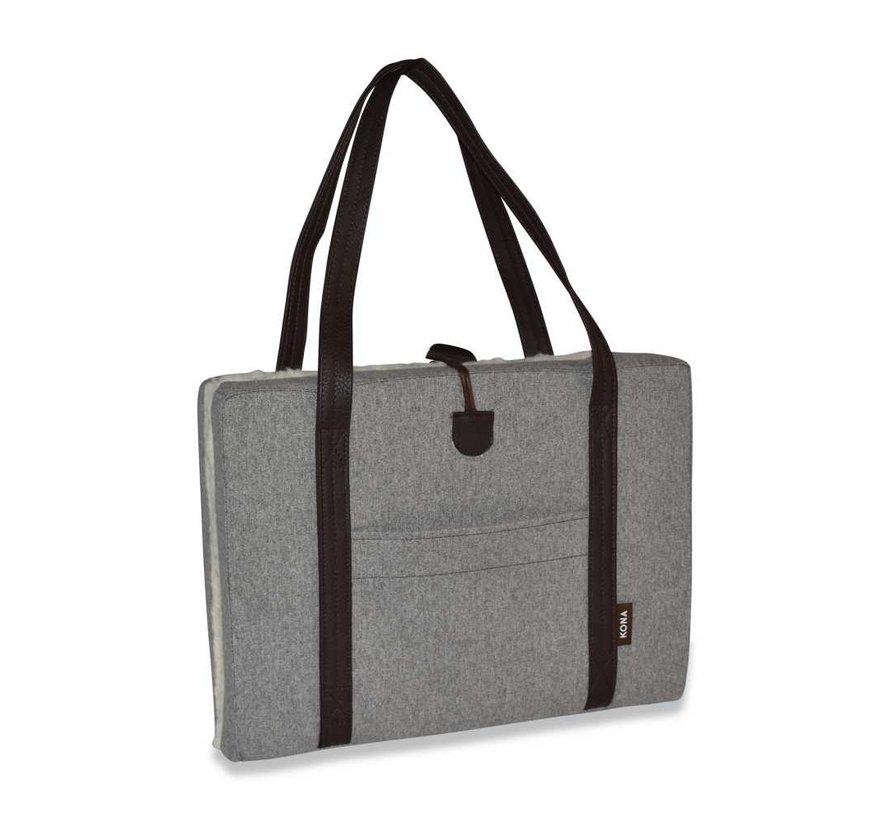 Portable Dog Cushion Grey Flannel