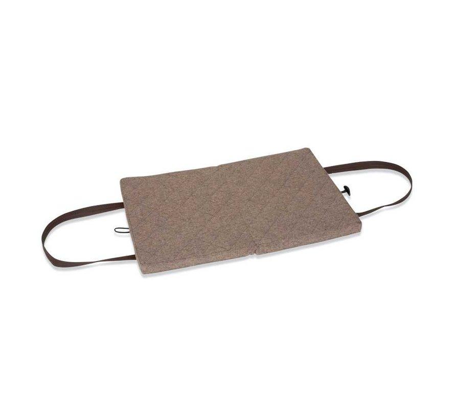 Portable Dog Cushion Beige Flannel