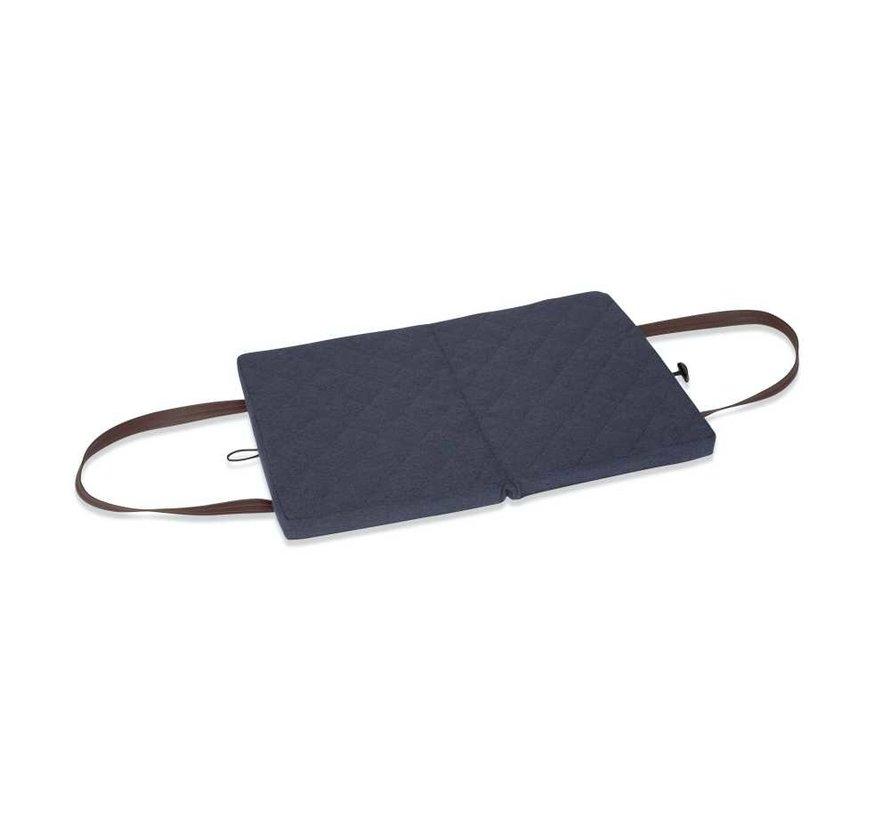 Portable Dog Cushion Navy Flannel