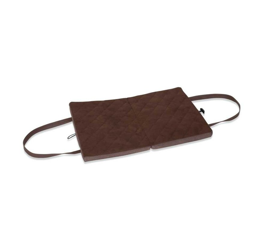 Portable Dog Cushion Brown