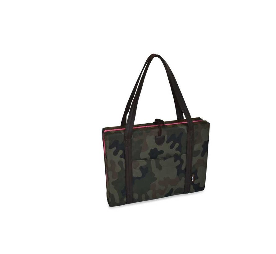 Portable Dog Cushion Camouflage & Pink