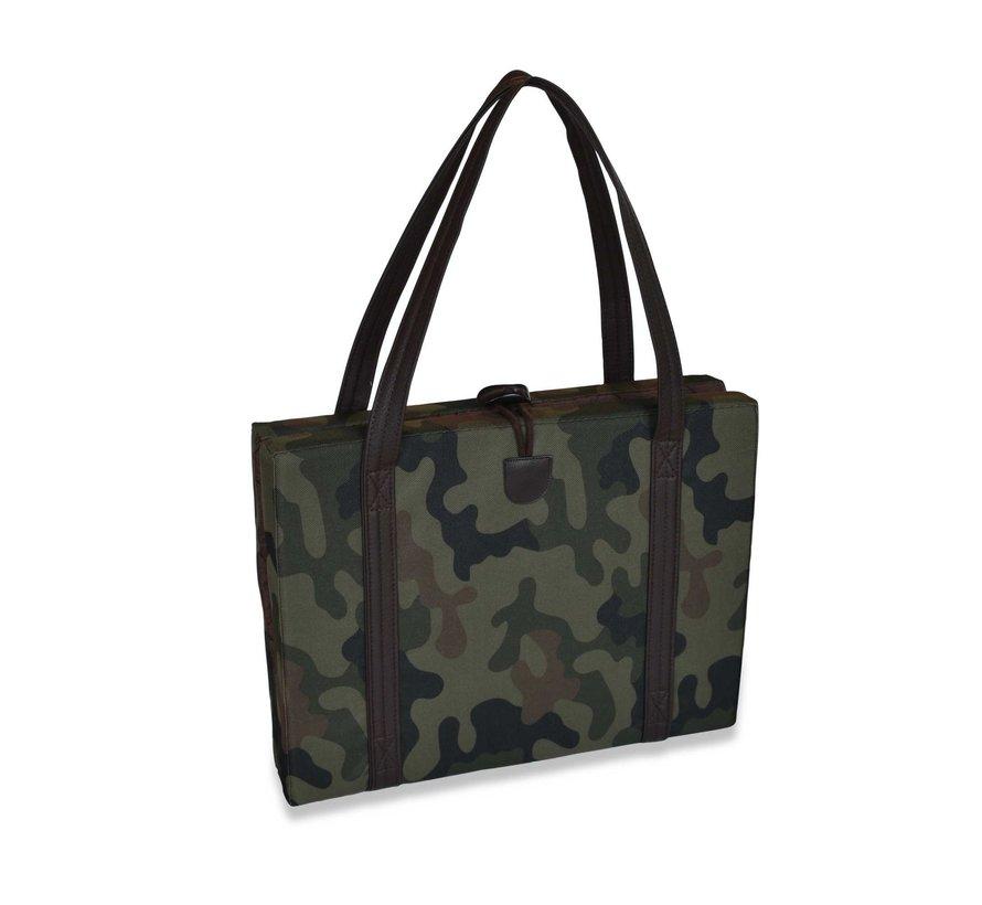 Portable Dog Cushion Camouflage & Brown