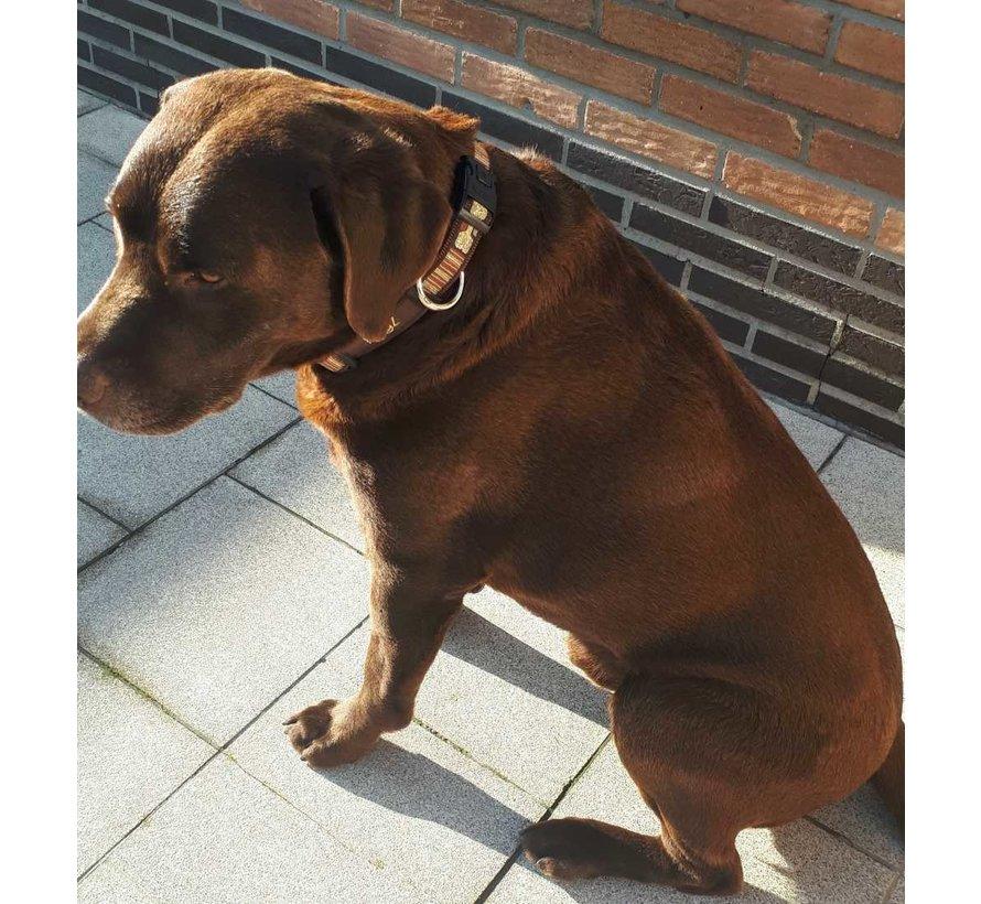 Hondenhalsband Mocha Bone
