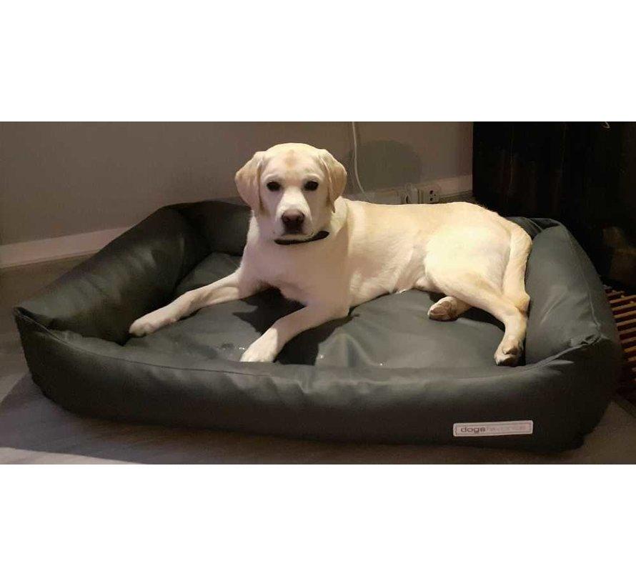 Dog Bed Leatherette Dark Grey