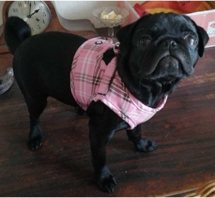 Comfy Dog Harness Scottish Pink
