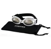 Dogoptics Dog Sunglasses Biker Silver frame/Mirror lens