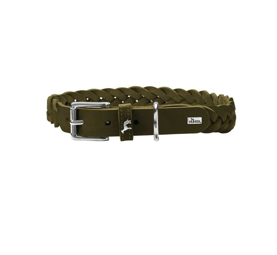 Hondenhalsband Solid Education Olive