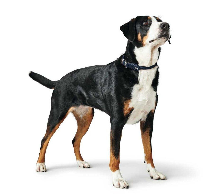 Dog Collar Round & Soft Dark Blue