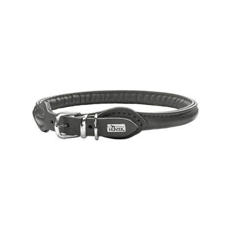 Hunter Dog Collar Round & Soft Grey