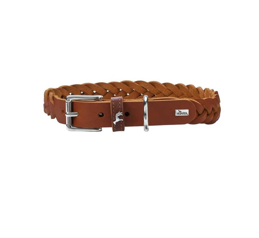 Hondenhalsband Solid Education Cognac