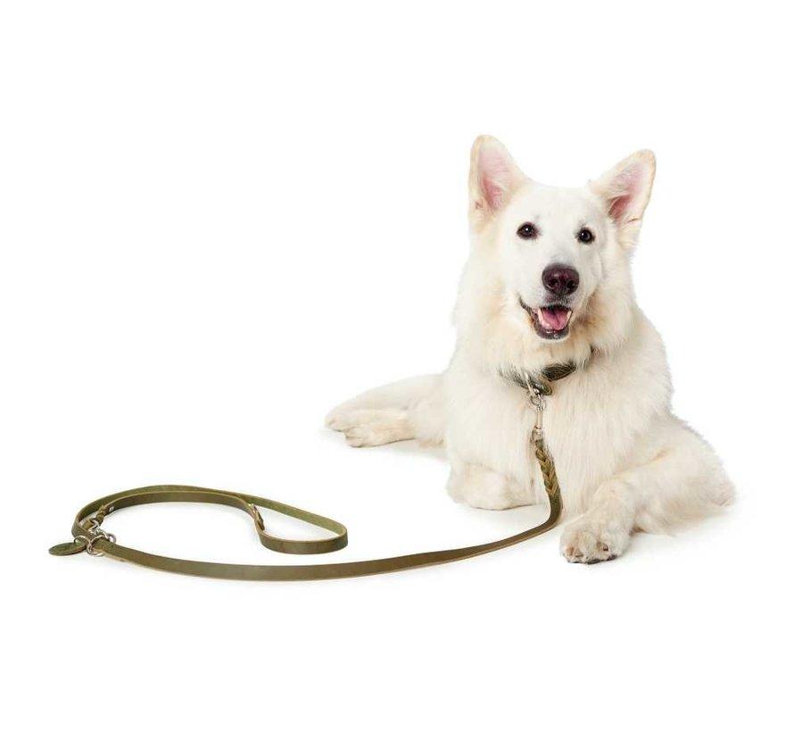 Adjustable Dog Leash Solid Education Olive