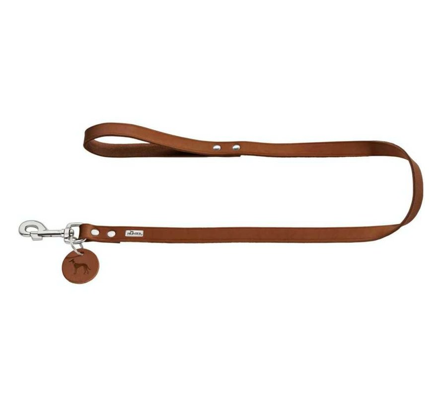 Dog Leash Cognac Leather