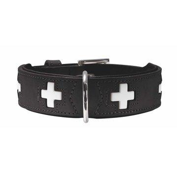 Hunter Hondenhalsband Swiss Zwart