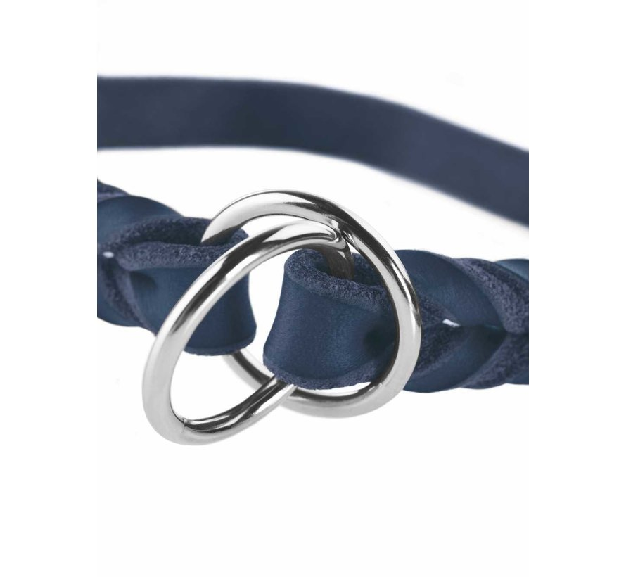 Sliphalsband Hond Solid Education Blauw