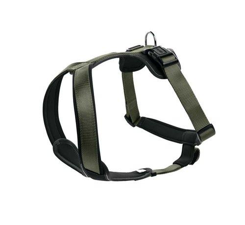 Hunter Dog Harness Neoprene Green