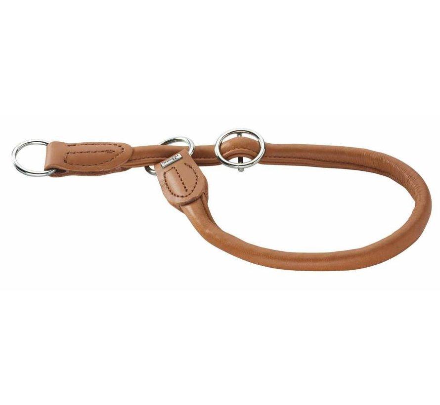 Training Halsband Round & Soft Elk Cognac
