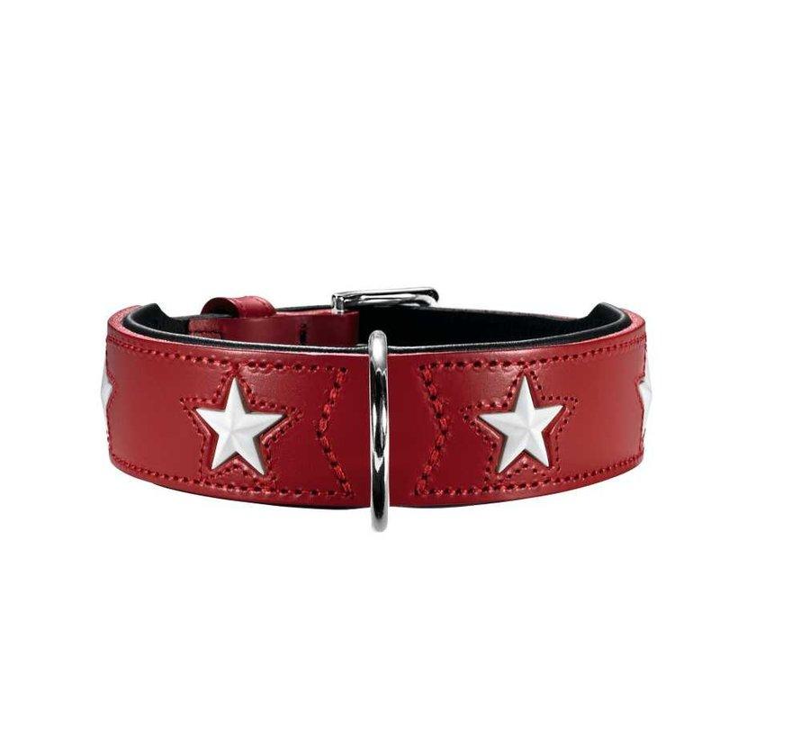 Dog Collar Magic Star Red