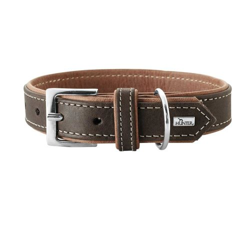Hunter Dog Collar Porto Dark Brown