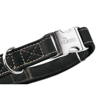 Hunter Dog Collar Cannes Alu Strong Black