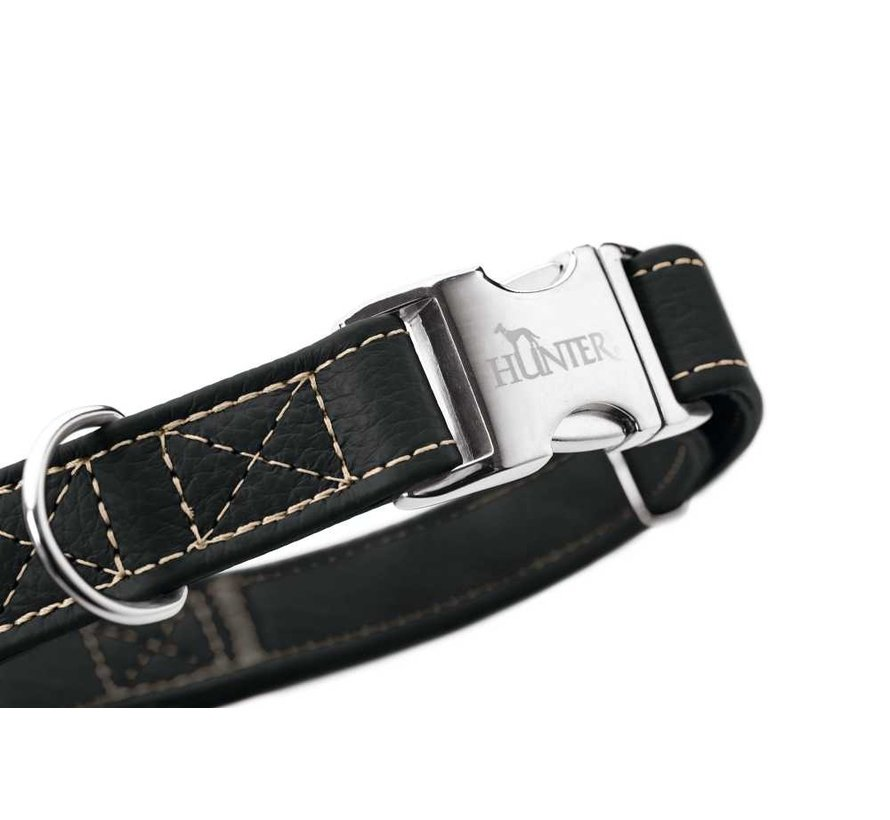 Dog Collar Cannes Alu Strong Black