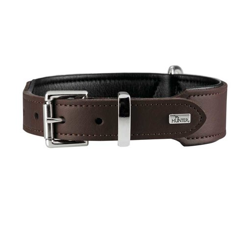Hunter Hondenhalsband Basic Bruin