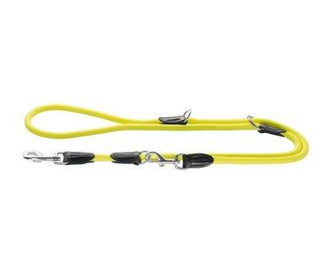 Hunter Verstelbare Hondenriem Freestyle Neon Geel
