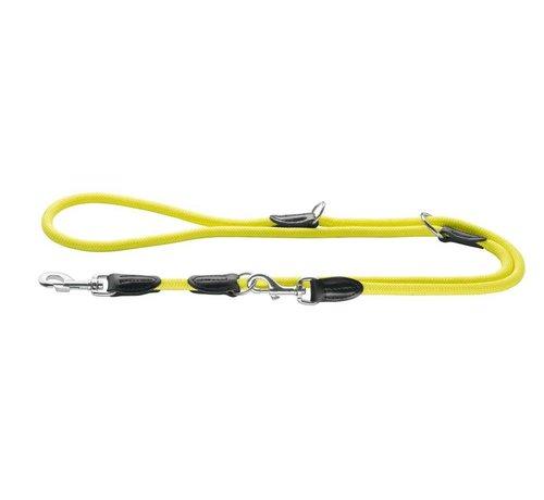 Hunter Adjustable Dog Leash Freestyle Neon Yellow