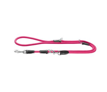 Hunter Adjustable Dog Leash Freestyle Neon Pink