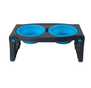 Dexas Adjustable Height Pet Feeder Pro Blue