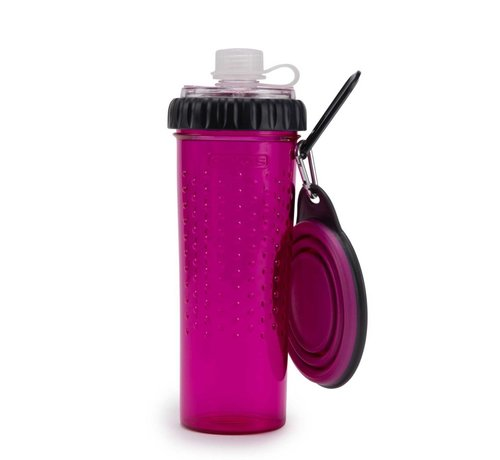 Dexas Snack Duo with travel cup Fuchsia