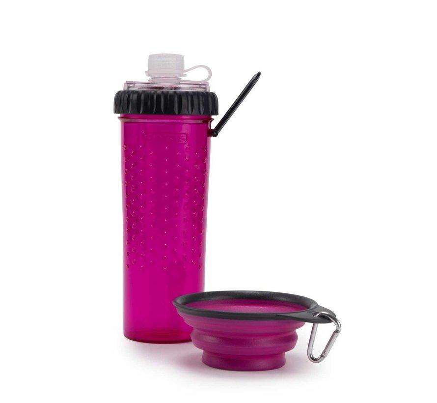 Snack Duo met travel cup Fuchsia