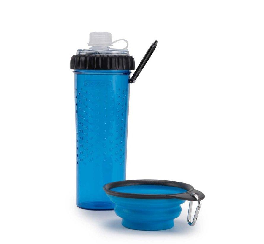 Snack Duo met travel cup Pro Blue