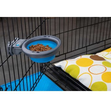 Dexas Kennel Bowl Pro Blue