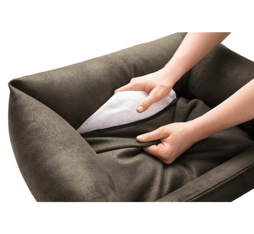 Dog Bed Faux Leather Bologna Brown