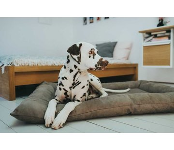 Hunter Dog Cushion Faux Leather Bologna Stone