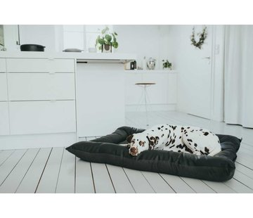 Hunter Dog Cushion Faux Leather Bologna Black