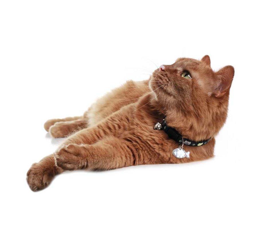 Kattenhalsband Krokom Zwart