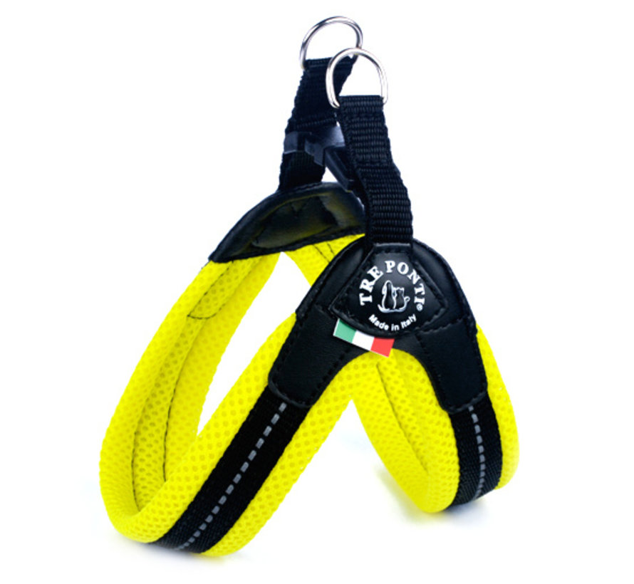 Dog Harness Easy Fit Mesh Fluo Yellow