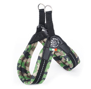 Dog Harness Easy Fit Mesh Camouflage Green