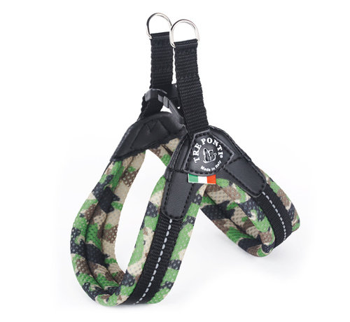 Tre Ponti Dog Harness Easy Fit Mesh Fluo Camouflage Green