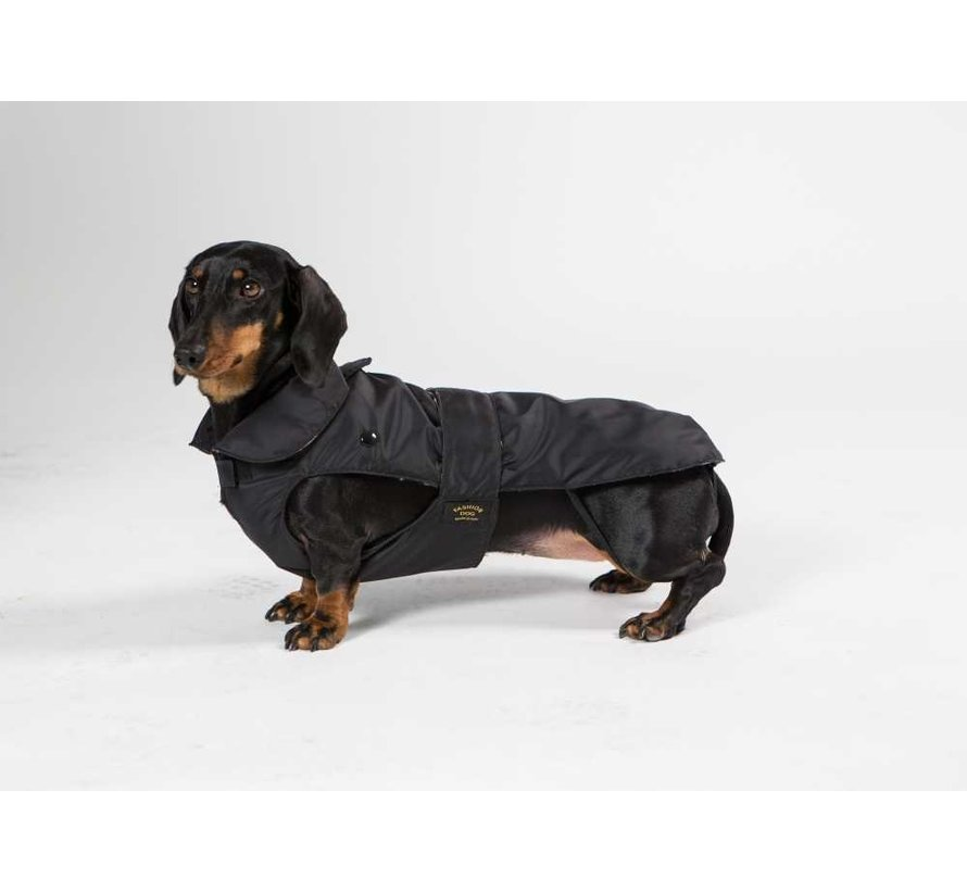Dog Coat Dachshund Black
