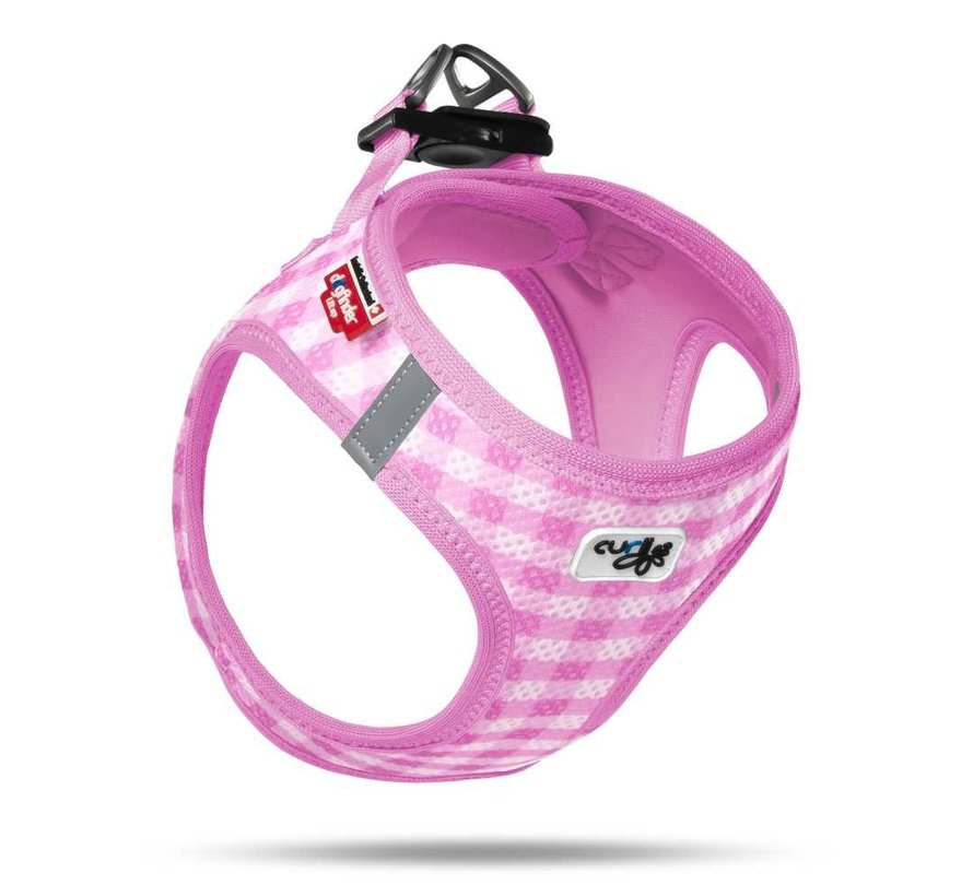 Puppy Harness & Leash Air Mesh Pink
