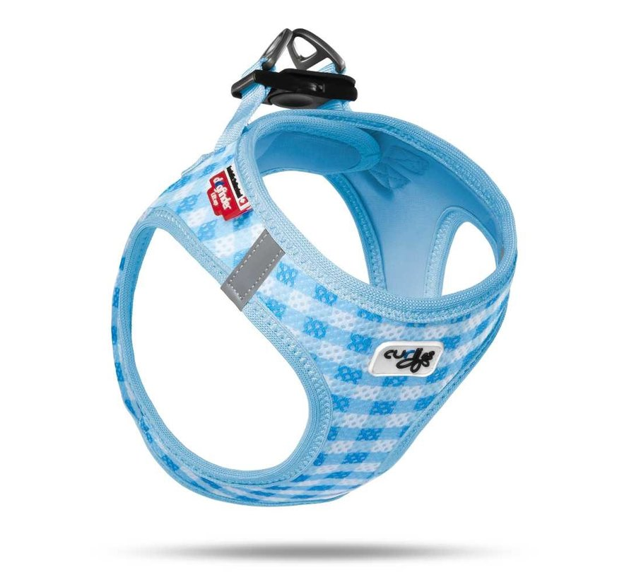 Puppy Harness & Leash Air Mesh Blue
