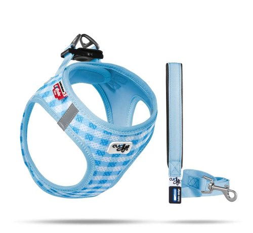 Curli Puppy Harness & Leash Air Mesh Blue