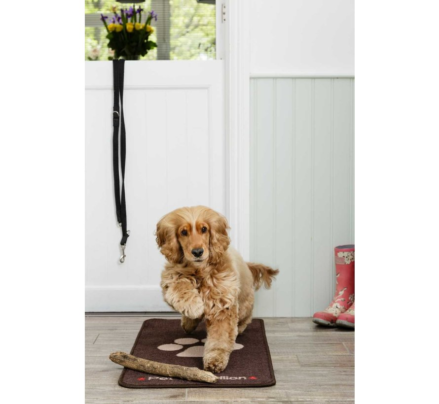 Barrier Rug Stop Muddy Paws Brown