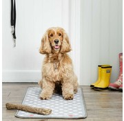 Pet Rebellion Barrier Rug Stop Muddy Paws Dotty Grey