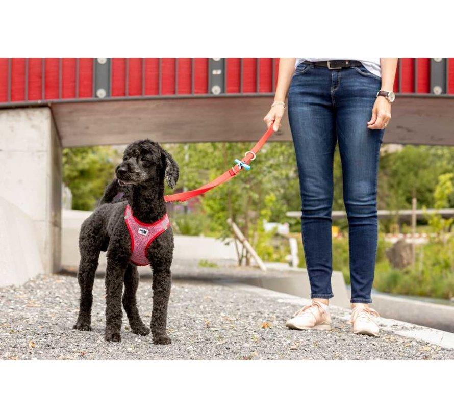 Adjustable Dog Leash Red