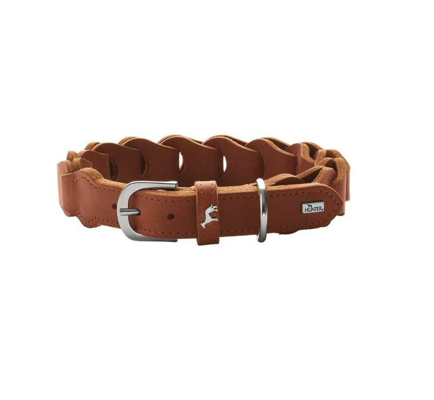 Dog Collar Solid Education Chain Cognac