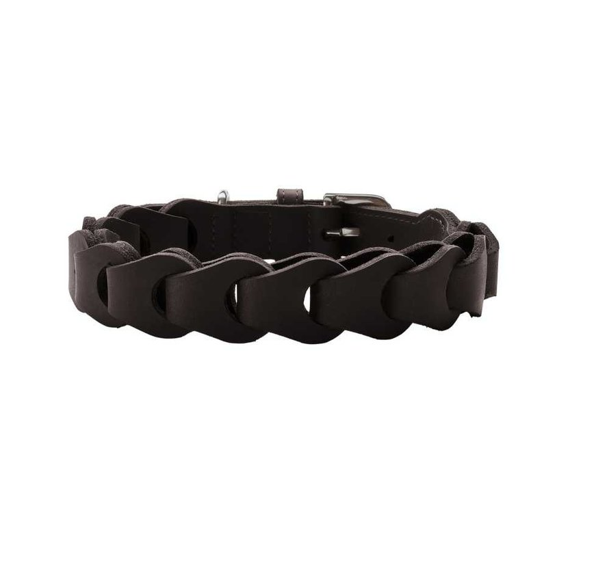 Hondenhalsband Solid Education Chain Donkerbruin