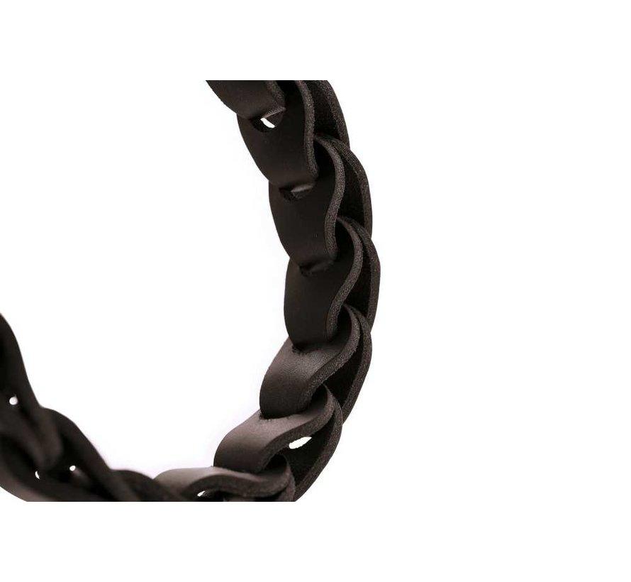 Dog Collar Solid Education Chain Dark Brown